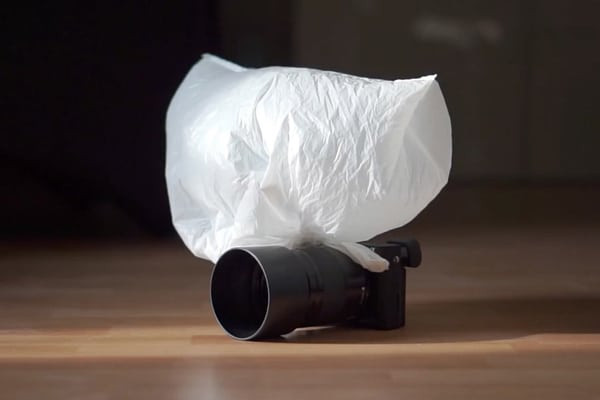 Use A Plastic Bag For A Softbox Effect