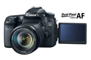 Canon EOS 70D dslr with flip screen