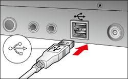 connect Canon camera to computer using USB cable