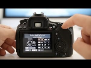 Touch Shutter On Canon EOS 80D - enable