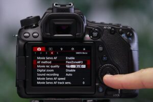 Touch Shutter On Canon EOS 80D - focus