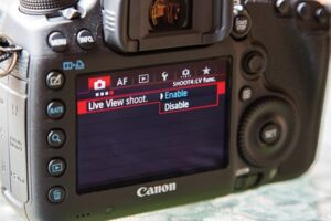 Touch Shutter On Canon EOS 80D - live view mode