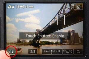 Touch Shutter On Canon EOS 80D - locate
