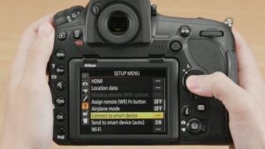 How to Transfer Photos From Nikon to iPhone - turn on the camera