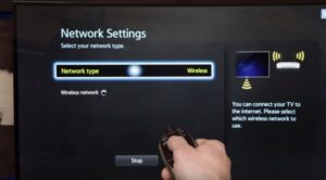 Connect Samsung TV to WiFi - network TYPE
