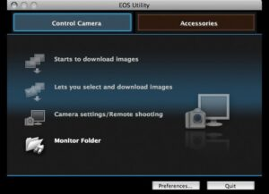 connect canon m50 to mac - EOS utility wifi