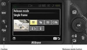 nikon d3500 landscape - release mode