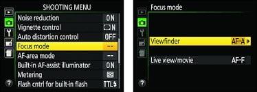 nikon d3500 landscape - setting focus