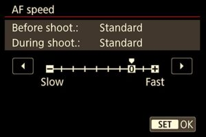 Canon 5D Mark IV settings - changing film speed