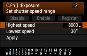 Canon 5d mark IV shutter speed - highest