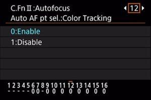 Canon 6D Mark II portrait settings - skin tone detection
