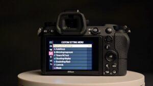 Nikon Z6 landscape settings - menu
