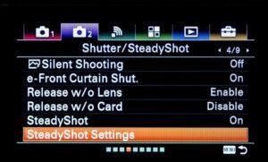 Best Sony A9 Video Settings - SteadyShot