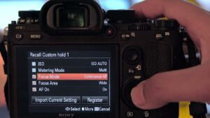 Best Sony A9 Video Settings - focus