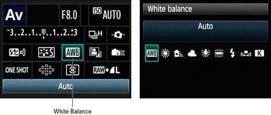 Canon 90D landscape settings - white balance