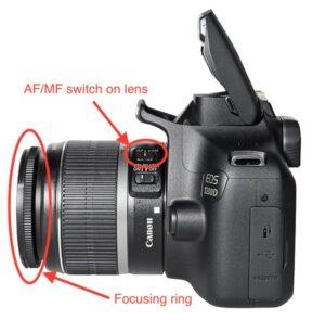 Canon EOS m50 Manual Focus - switch to manual focus