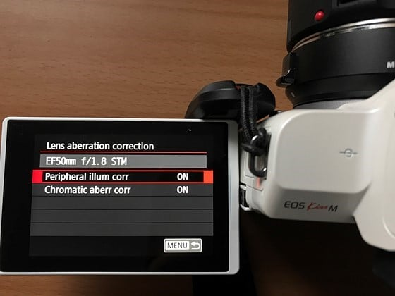 Canon M50 cinematic settings - abberation correction