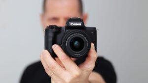 Canon m50 shutter speed - camera angle