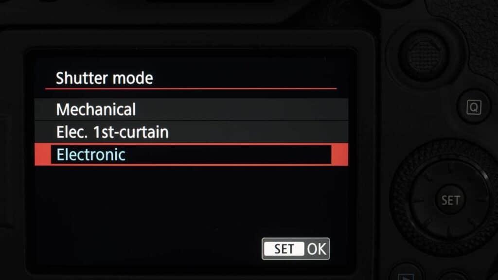 Canon m50 shutter speed - selecting shutter speed