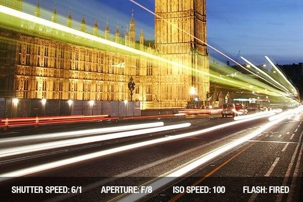 Nikon D3500 shutter speed - landscape