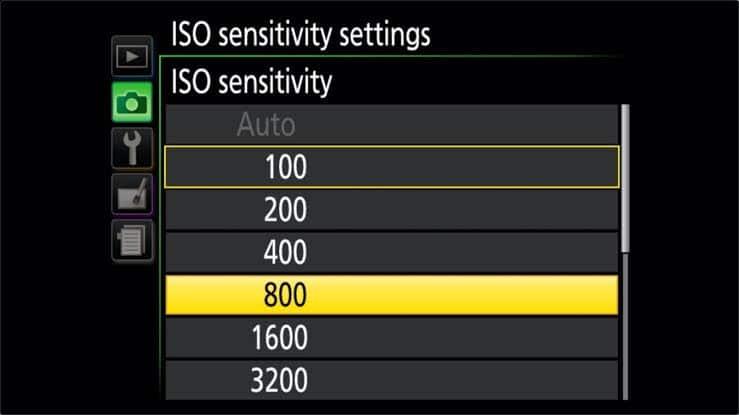 Nikon D500 Portrait settings - ISO