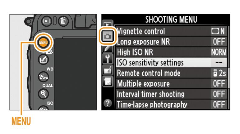 Nikon D500 wedding photography settings - ISO speed