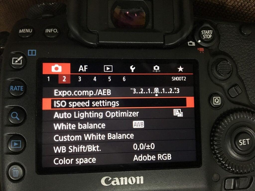 Canon 5D mark iv wedding photography - ISO settings