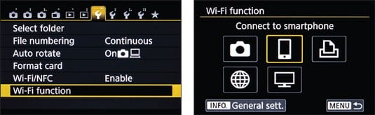 How to connect Canon t6i to computer - enable wifi option