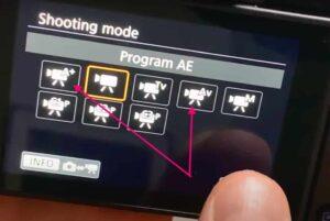 Canon EOS R Vlogging Settings - Shooting Mode