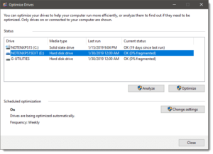 How to increase fps on a laptop-Defrag the primary hard drive