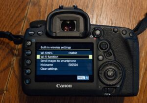 connect canon 5d mark iv to computer - wifi function
