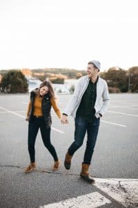 Couple Posing - Walking towards the camera