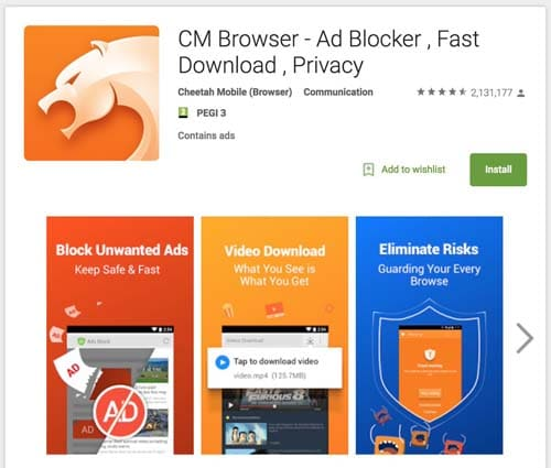 CM Security Browser – Private