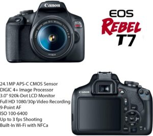 Best DSLR Cameras for Beginners - Canon EOS Rebel T7 Camera