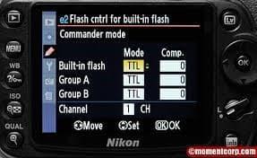 Nikon D90 portrait settings flash on