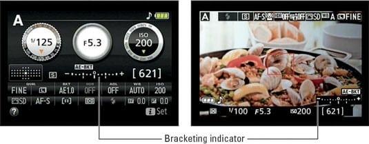 Nikon D5300 Auto Bracketing