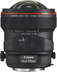 Best Canon Lens for Landscape Photography - Canon TS-E 17mm f-4L UD