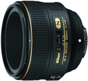 Best Nikon Portrait Lens - Nikon AF-S NIKKOR 58mm