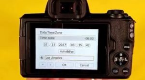 Canon 80D interval timer settings - set the time