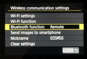 How to connect Canon EOS M50 to iPhone - bluetooth function