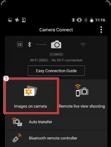 How to connect Canon EOS M50 to iPhone - pairing