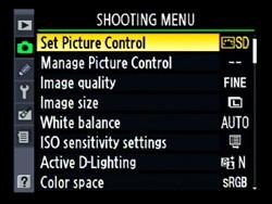 Nikon D90 Landscape settings ISO