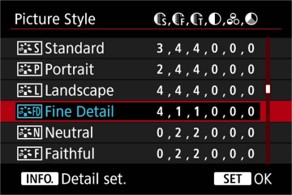 canon eos r viewfinder settings advanced filters
