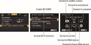 connect Canon 80D to computer - enable wifi NFC option
