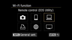 connect Canon 80D to computer - wireless communication setting