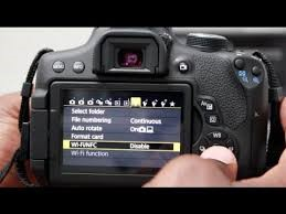 connect Canon rebel t6 to computer - disable Wifi - NFC