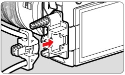 how to connect canon eos r to computer - attach the clamp properly