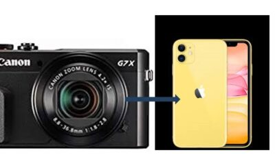 How to connect Canon G7X MARK II to Iphone