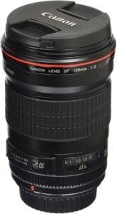 Best Canon Wedding Lens - Canon EF 135mm f2L USM