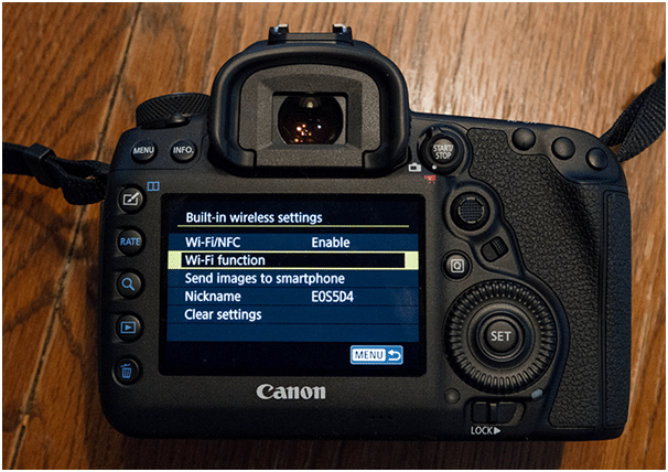 Connect Canon 6d Mark ii to computer - activate wifi option